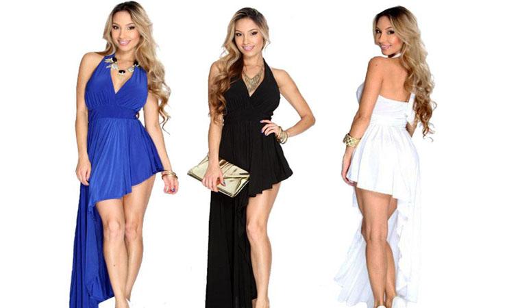 Angelique Dress in Black Ponte de Roma Knit Fabric - Plus Size