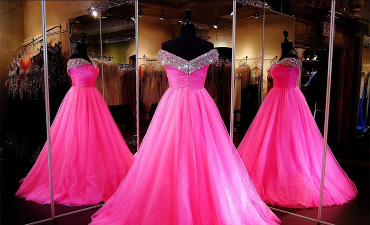 Colorfully Bewitching Two-piece Pink Prom Dress by Sherri Hill