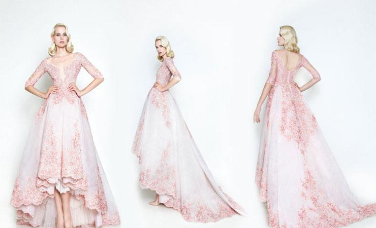 Floral Sweetness Two-Piece Pink Prom Dress by Rachel Allan