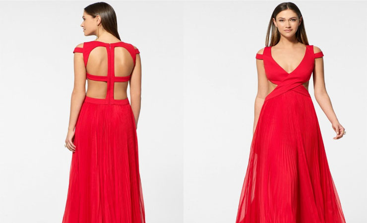 Gina Dress in Red - Plus Size