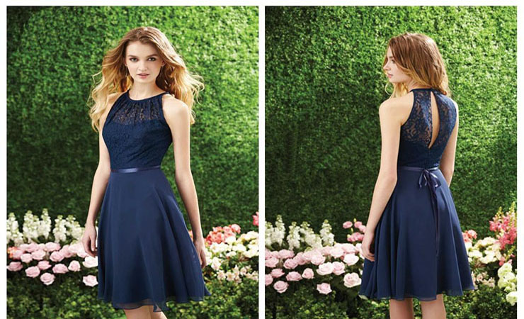 Aurora Inspired Dazzling Beaded Tulle High Low Blue Homecoming Dress