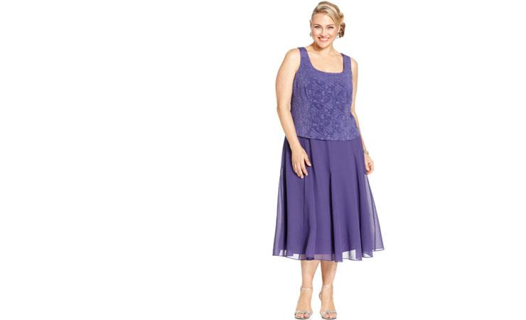Isabelle Dress in Purple - Plus Size