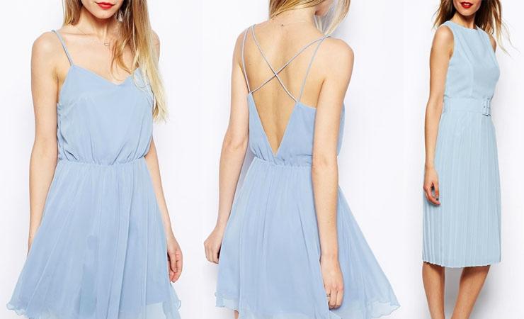 Jayne Dress in Baby Blue - Plus Size