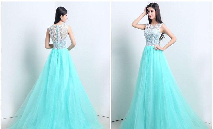 Jewel Neckline Lace Shimmer Flower Girl Dress