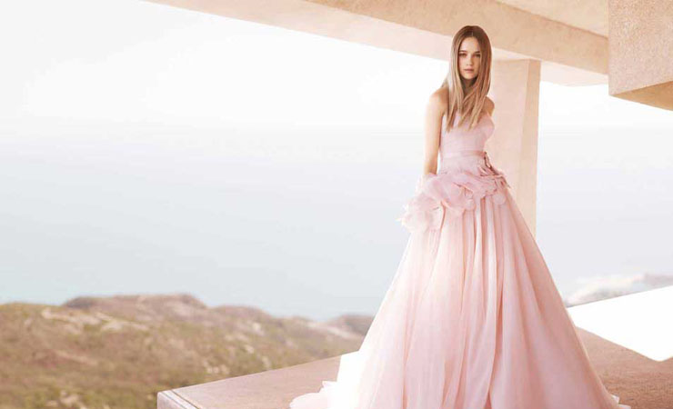 Luxurious Sweetheart Lace Light Pink Prom Dress by Tarik Ediz