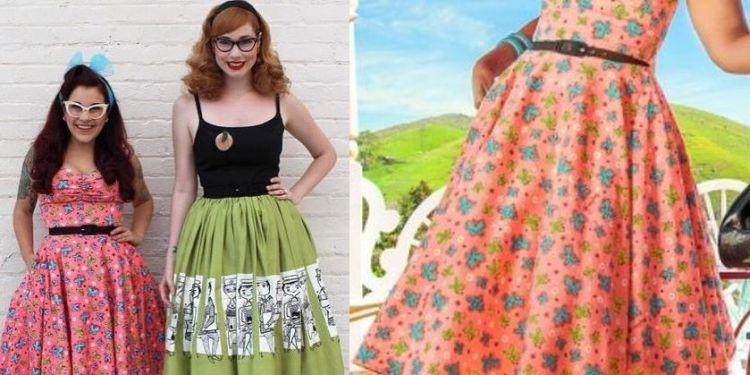 Nancy Dress in Peach butterfly