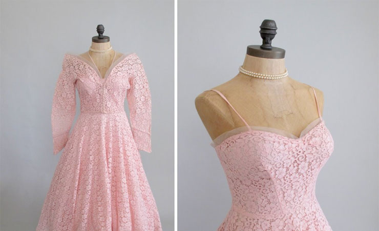 Ombre Delight Embellished White Pink Prom Dress by Hannah S