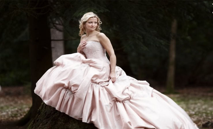 Modest Lace Sleeved Pink Homecoming Dress