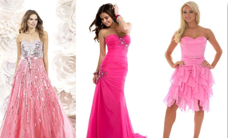 Ruffled full length Aurora Pink Prom Dress by Pretty Maids