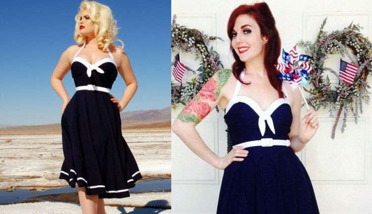 Sailor Swing Navy blue dress