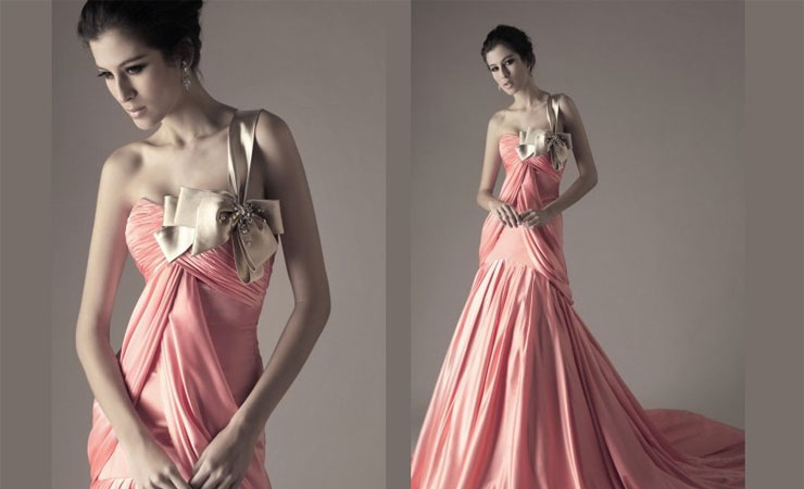 Lace Strapless Pink Homecoming Dress with Asymmetrical Hemline