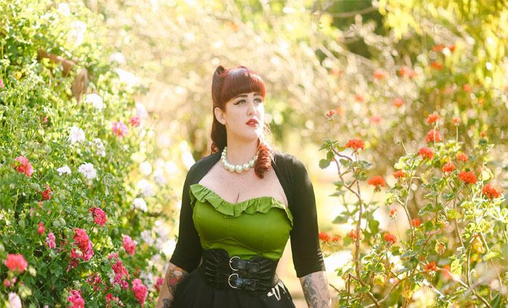 The Laura Byrnes Gilda Gown in Olive Velvet - Plus