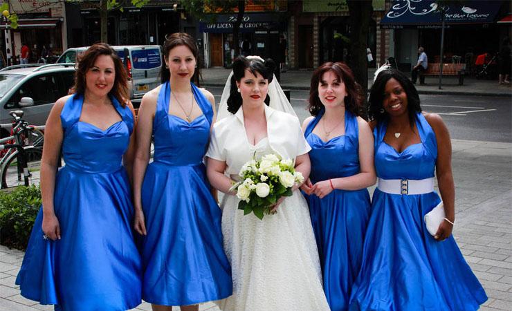 Vivien Dress in Bright Blue - Plus Size