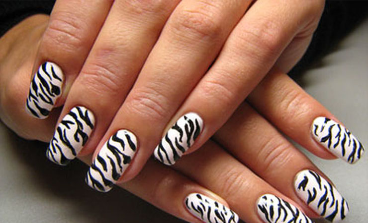 A to Zebra Nail Design