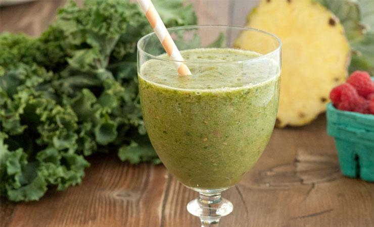 Coconut-Kale-Ginger Juice