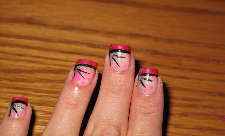 Cute Autumn French Tip Nail Design