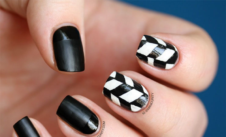 Cute Edgy Electric Nail Design