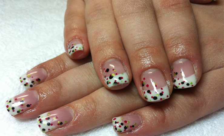 French Tip Nail Design with a Twist