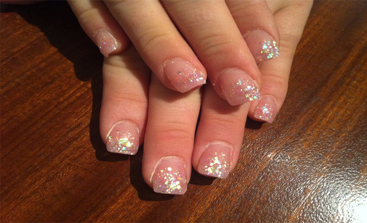 French Tip Nail Design with Cute Bow Accents