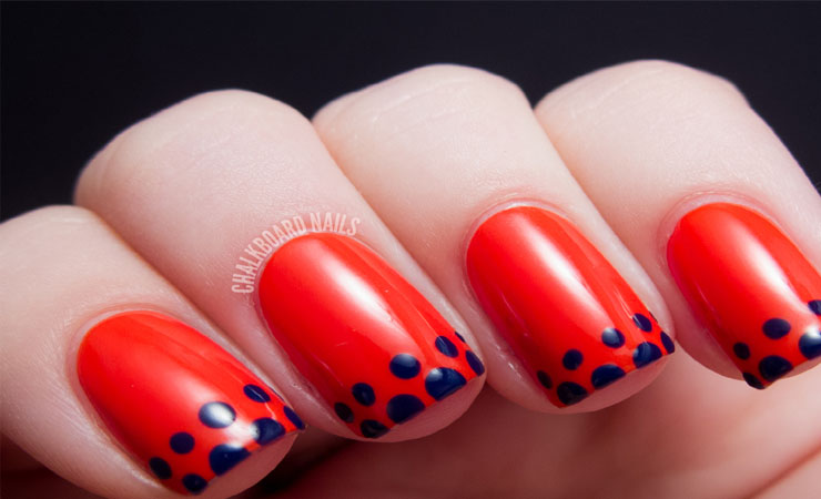 French Tip Nail Design with Inverse Color Combination
