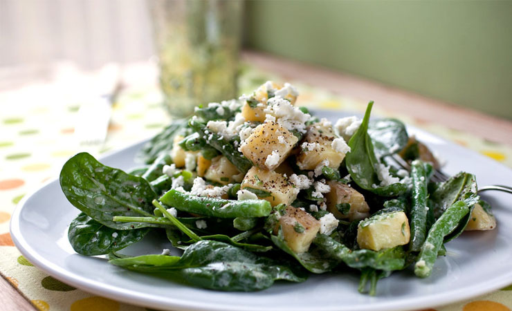GREEN BEANS, KALE AND POTATO PUREE
