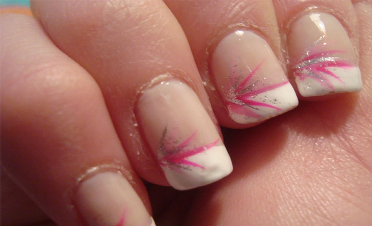 Lace Themed French Tip Nail Design
