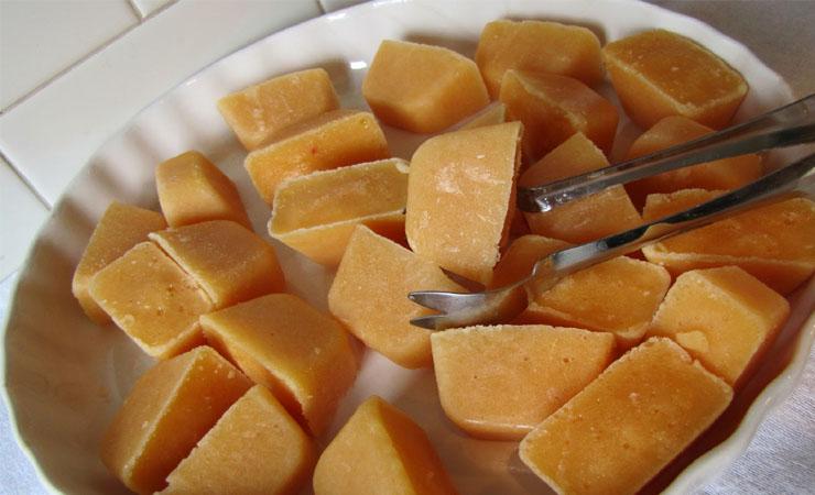 Peach cubes