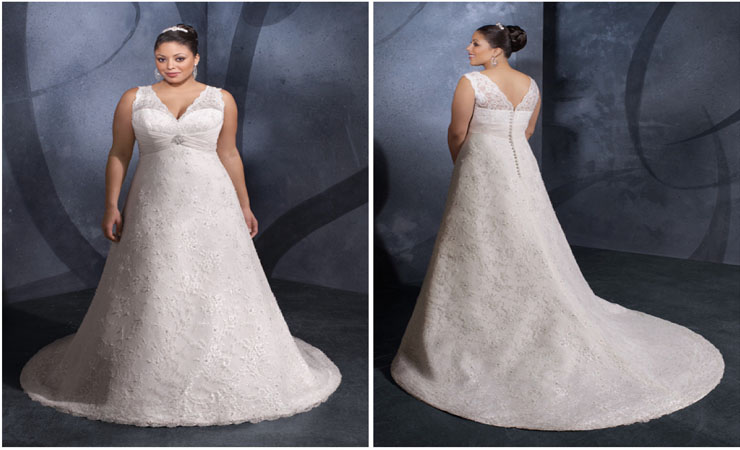 Lace and Shine Ball Gown Wedding Dress