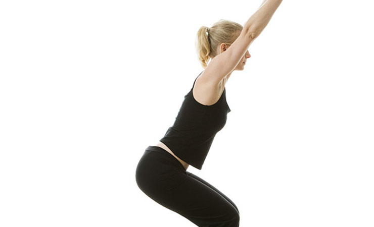 Ukatasana or the Chair pose