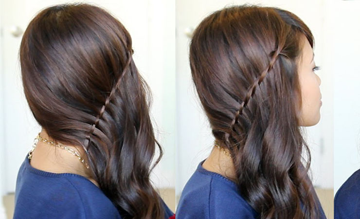 Half Updo with Twisted Sides
